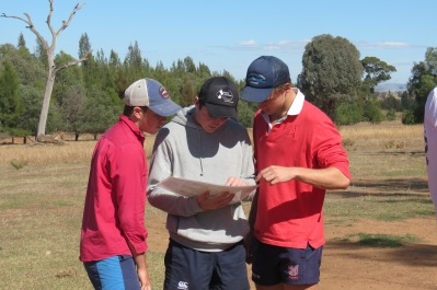 "Scots College students using satellite imagery and EMI survey results in practical activities at ""Westville"""