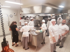 The students have taken over the kitchen!